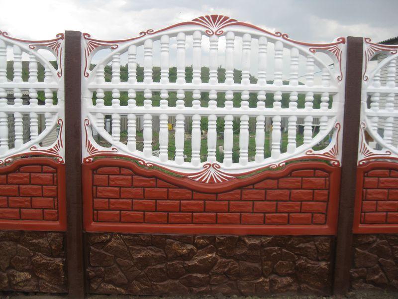 ажурный бетонный забор