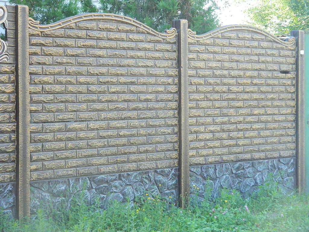 забор под кирпич