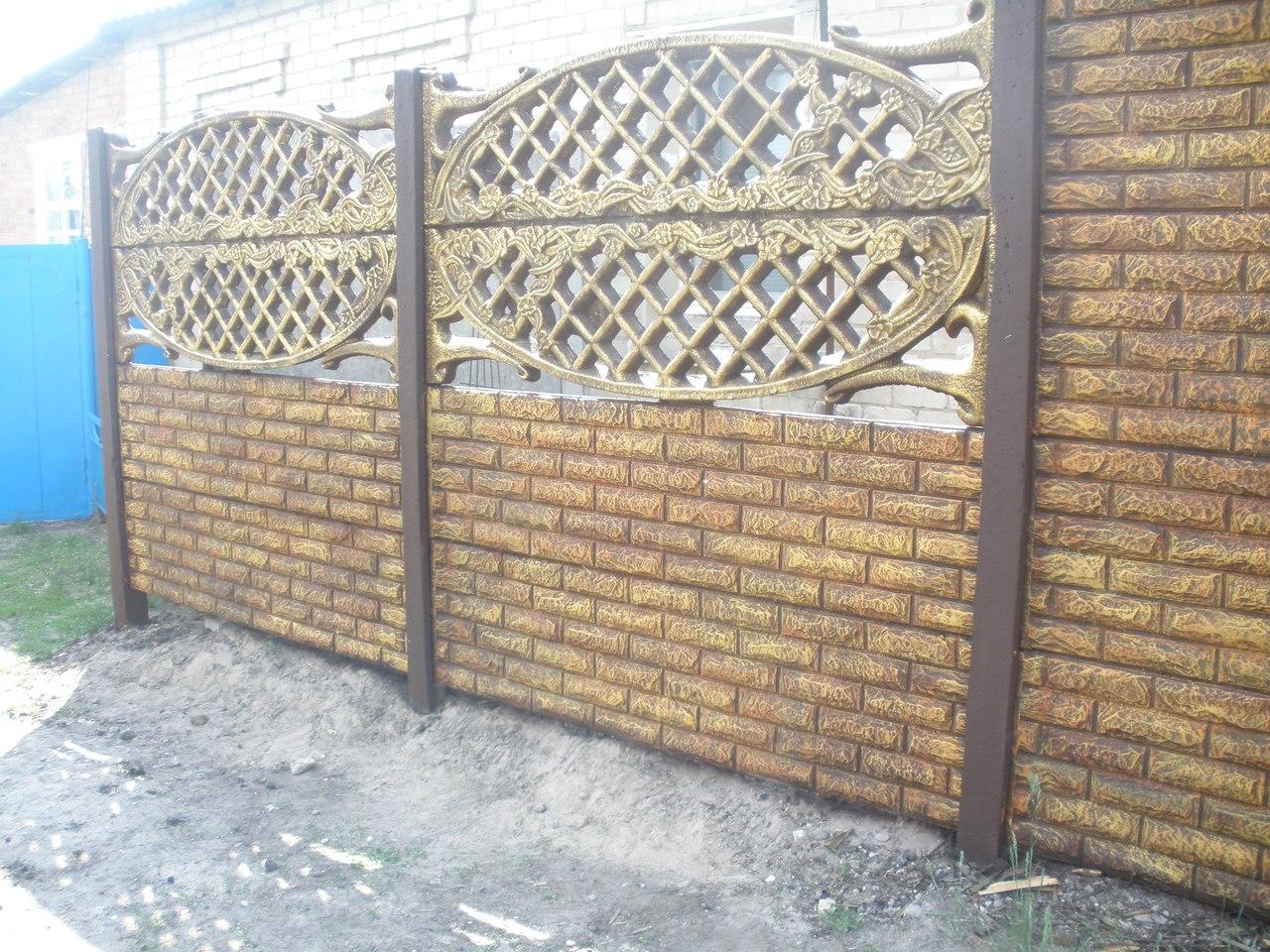 забор из европанелей