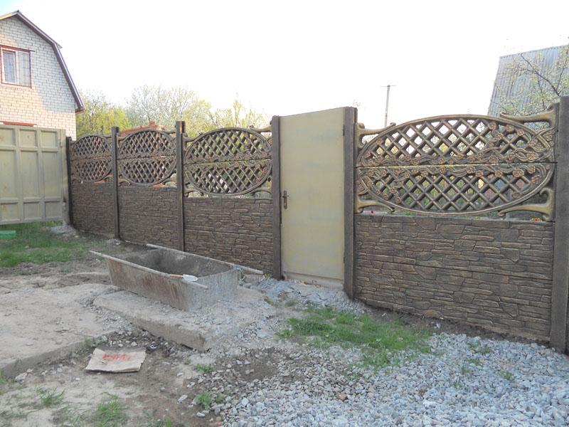 забор бетон ажур