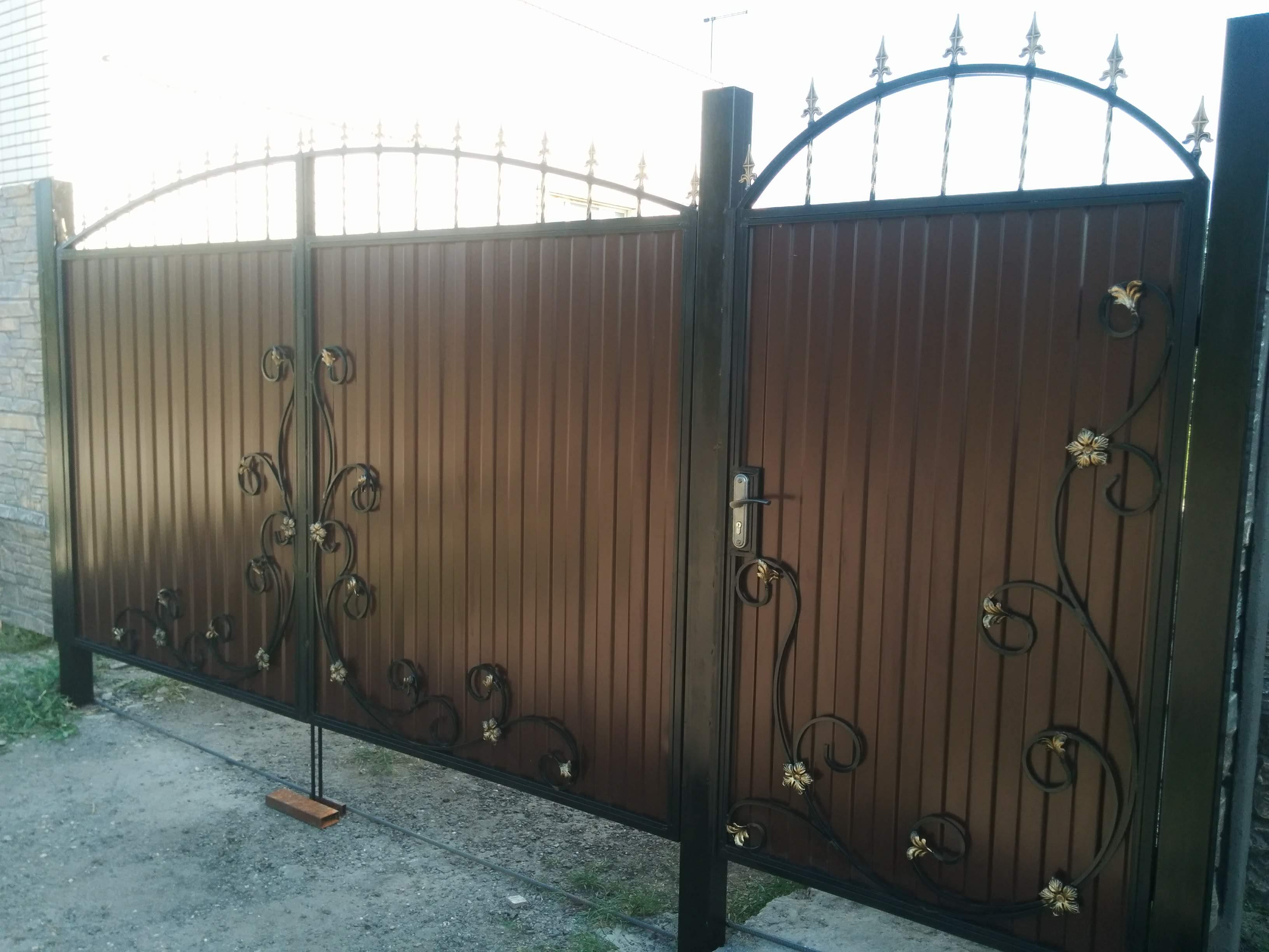 Ворота и калитка из профильного листа Волгоградская область