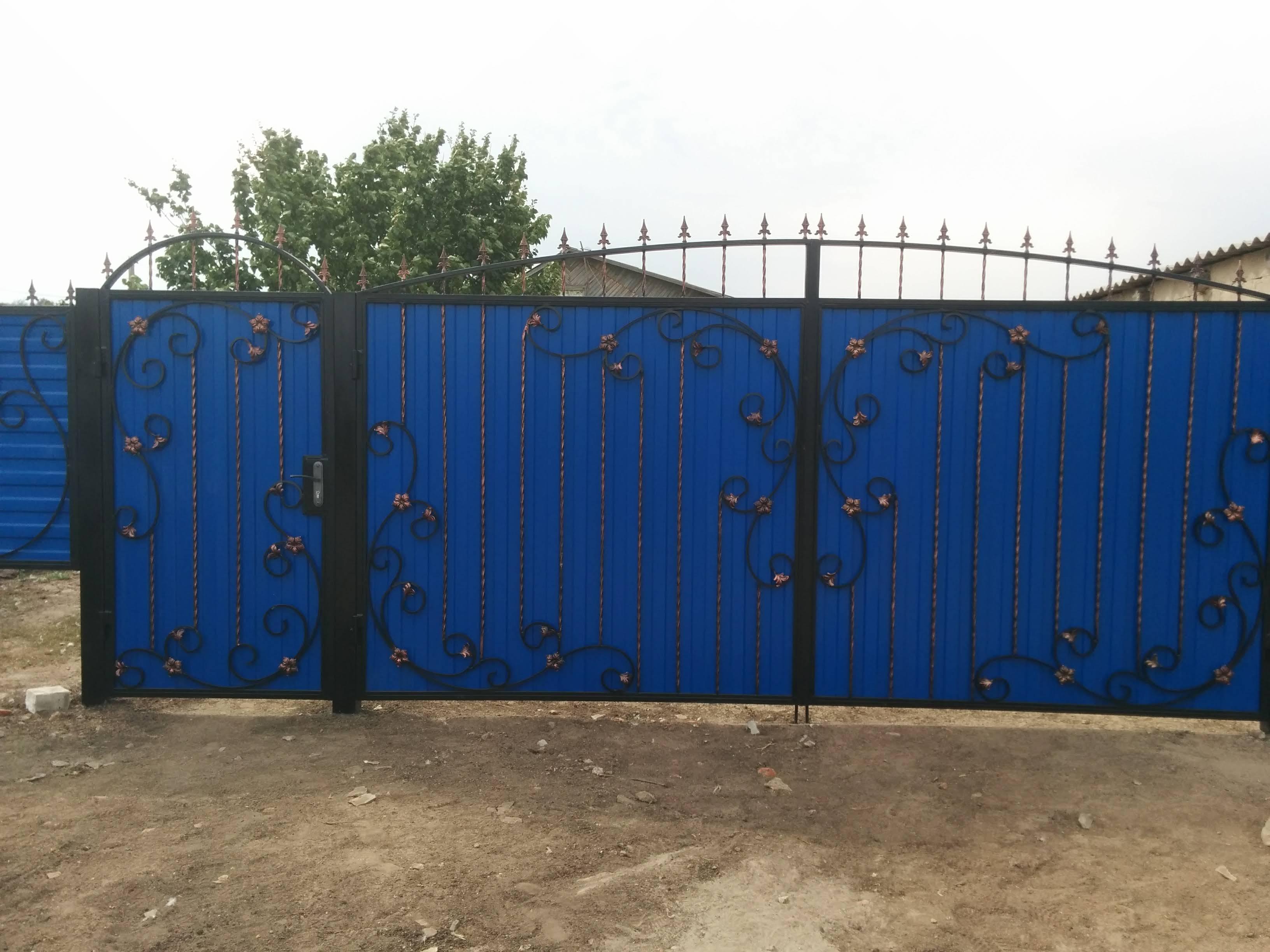 Ворота и калитка с ковкой Серафимовичский район