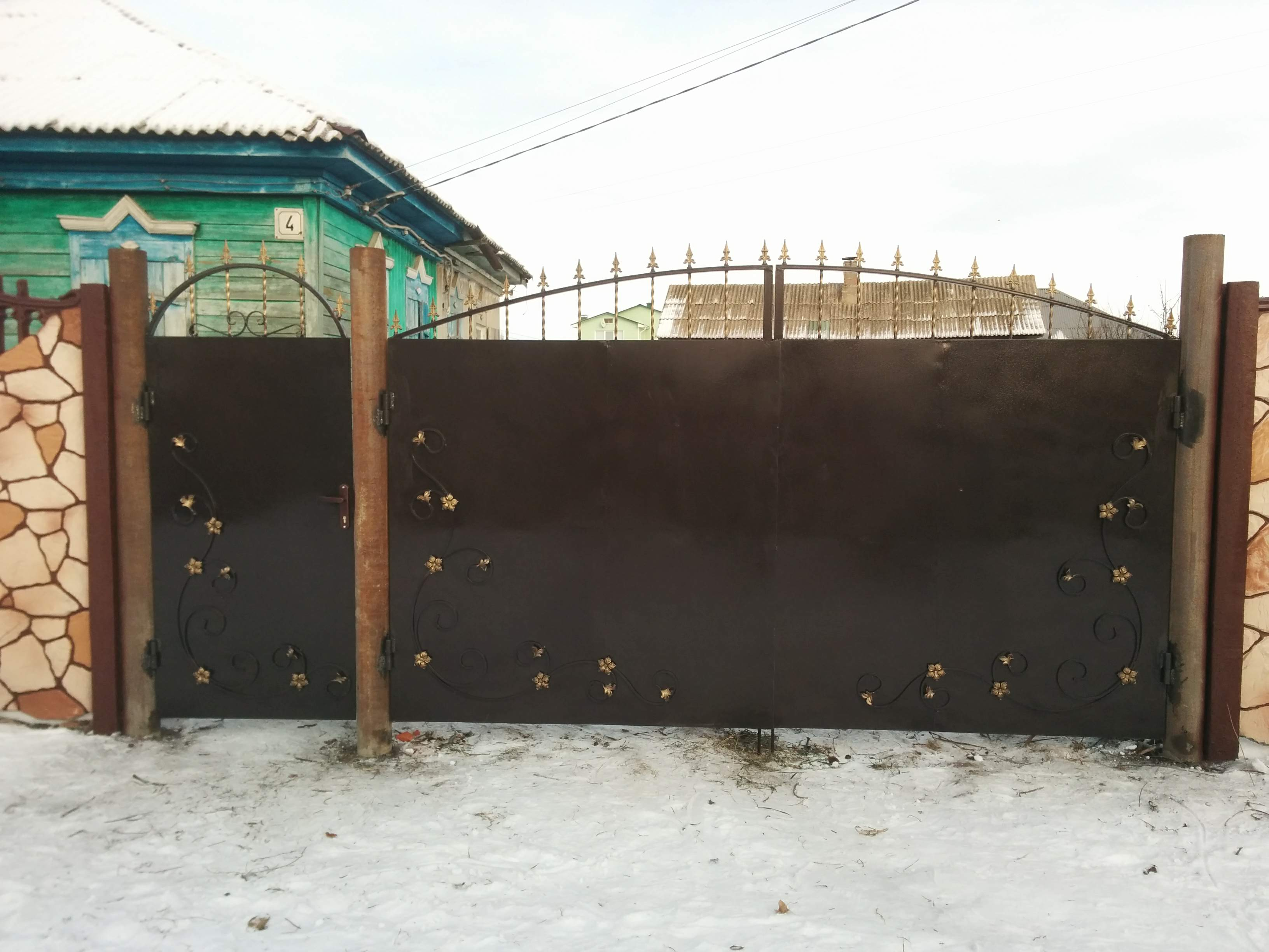 Ворота металлические Михайловка